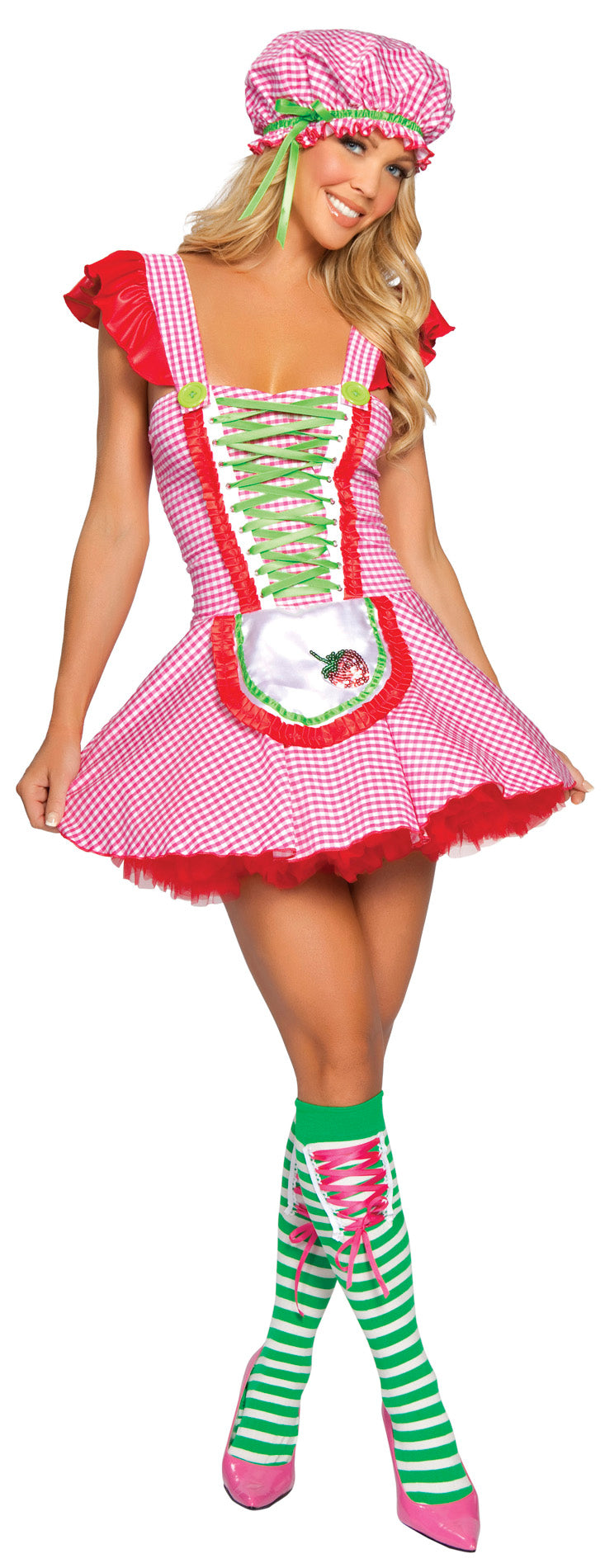Sexy Strawberry Girl Costume Front RM4169