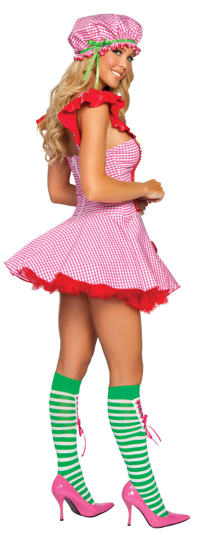 Sexy Strawberry Girl Costume Back RM4169