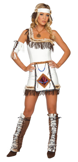 Indian Chief Costume White Front RM4206