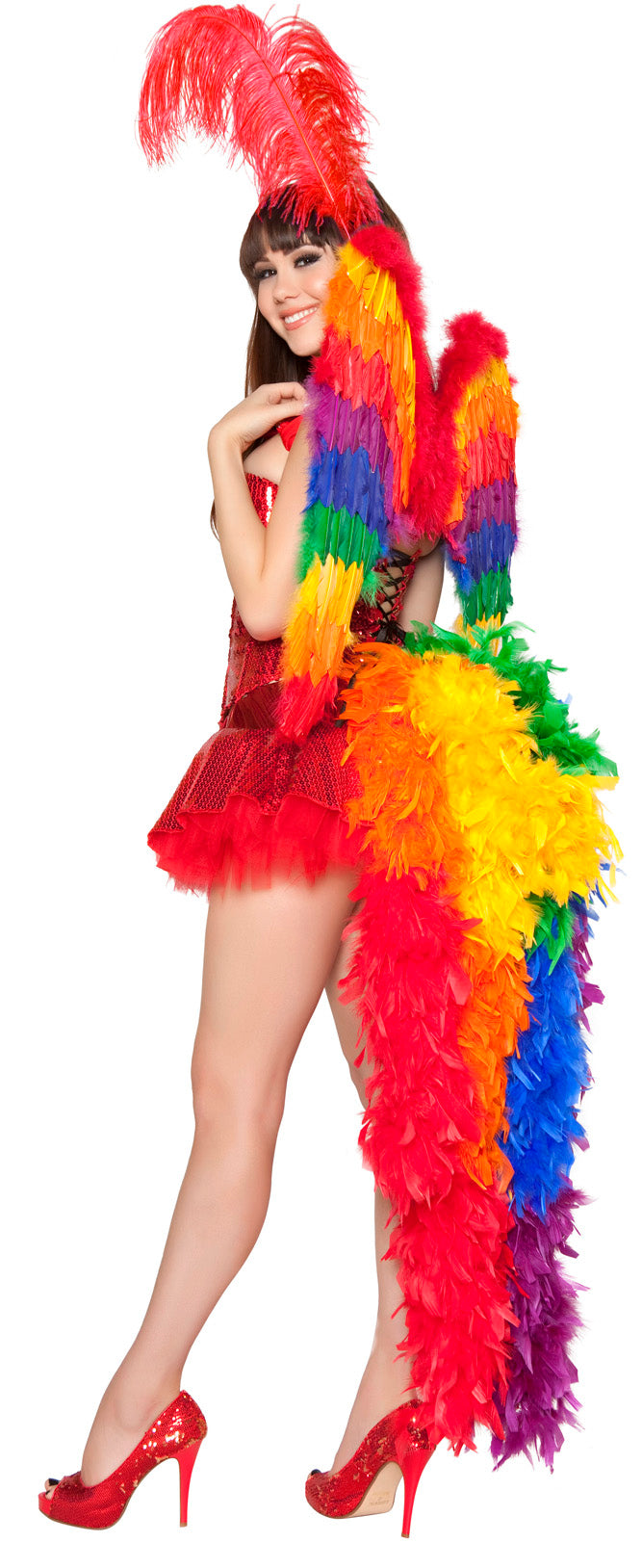 Three Piece Parrot Playmate Costume Back RM4330