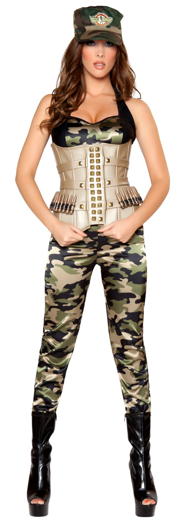 Four Piece Sensual Soldier Camouflage Front RM4331