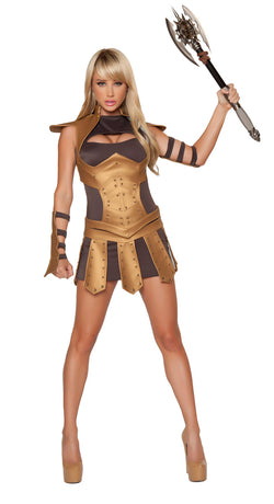 Sexy Warrior Woman Costume Front RM4342