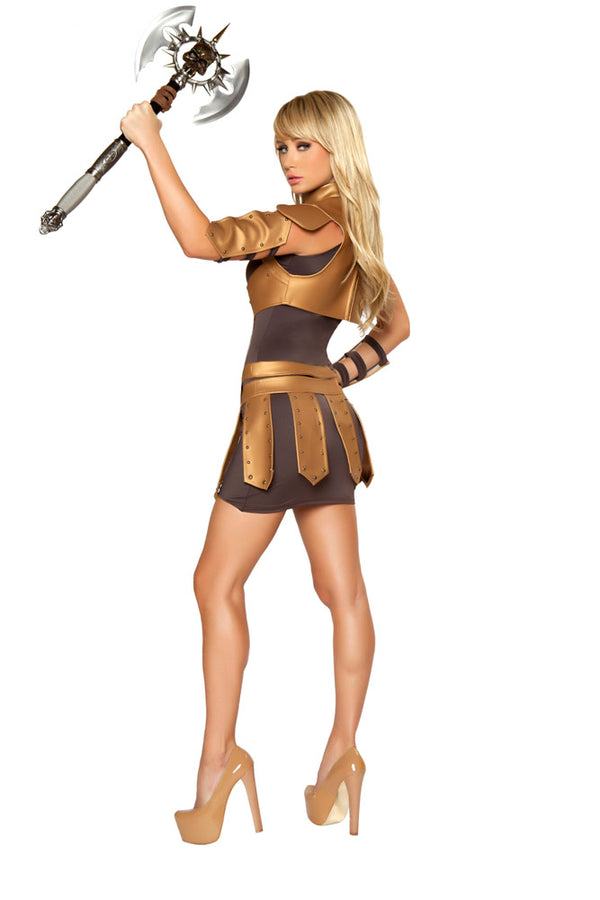 Sexy Warrior Woman Costume Back RM4342