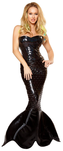 Two Piece Mermaid Mistress Black Front RM4353