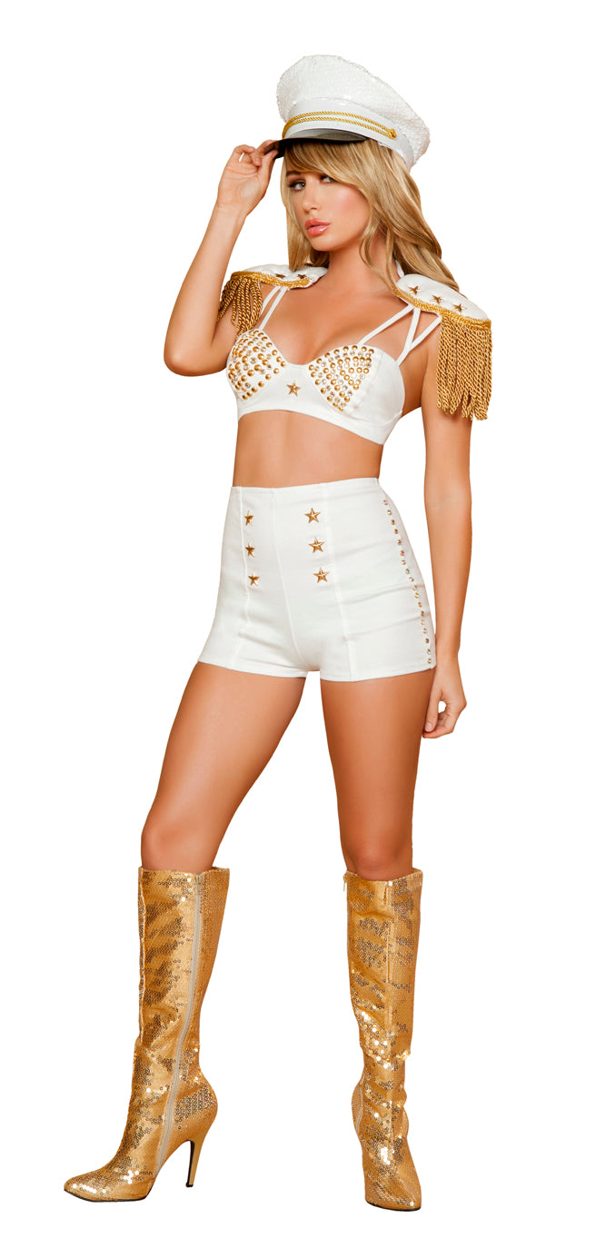 Sassy Sailor Costume Front White RM4383