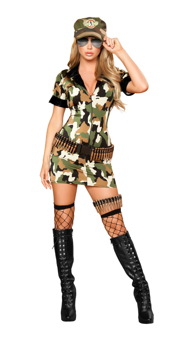 Militia Babe Costume front RM4393
