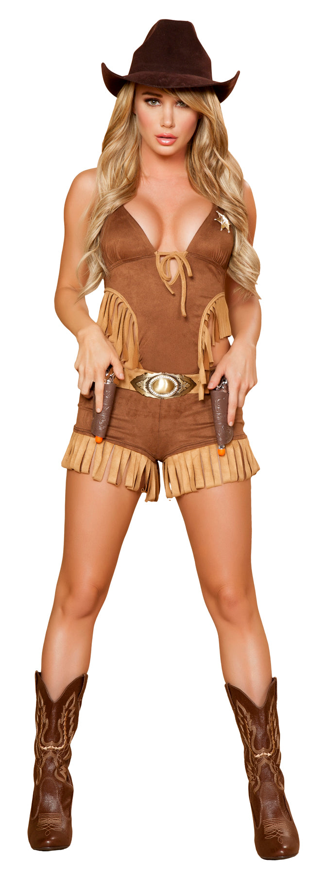 Rodeo Hottie Costume Brown Front RM4424