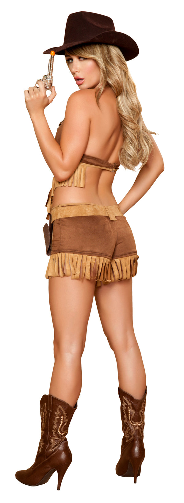 Rodeo Hottie Costume Brown Back RM4424