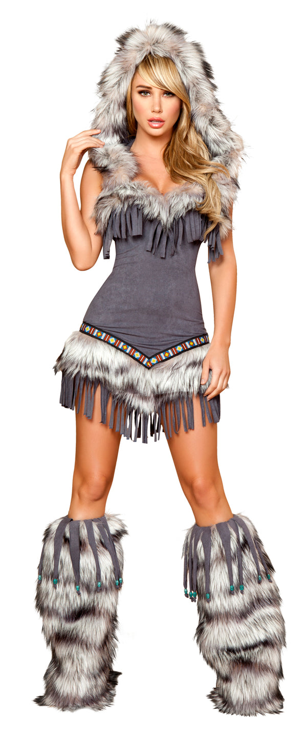 Native American Temptress Costume Grey Front RM4427