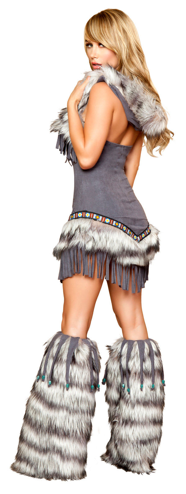 Native American Temptress Costume Grey Back RM4427