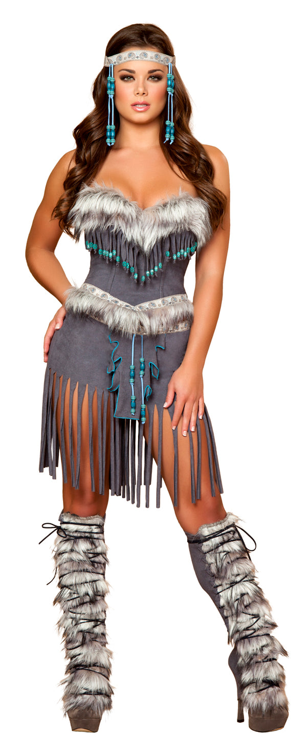 Indian Hottie Costume Grey Front RM4428