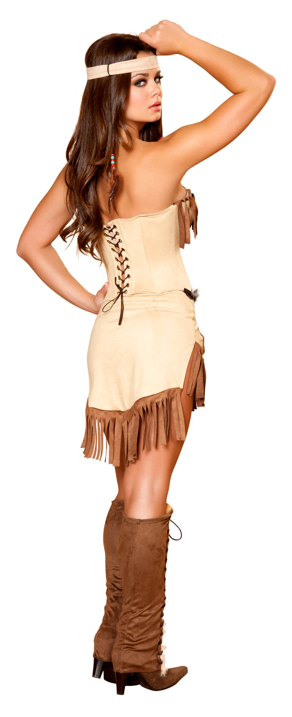 Indian Mistress Costume Tan Back RM4429