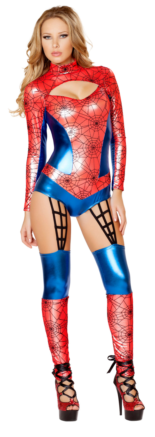 Sexy Red Spider Woman Costume Front RM4489