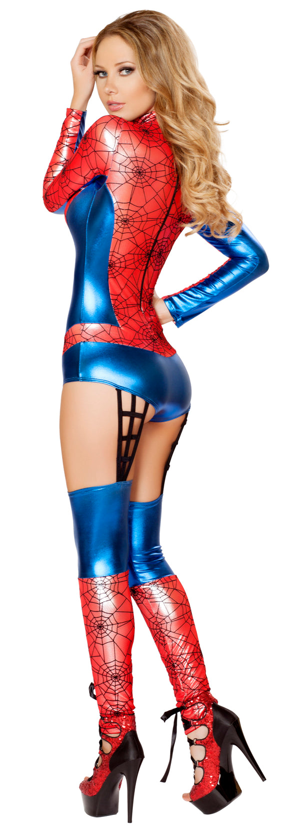 Sexy Red Spider Woman Costume Back RM4489