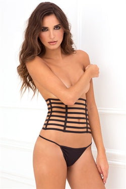 Two Piece Cage Cincher Waspie & G-String Set
