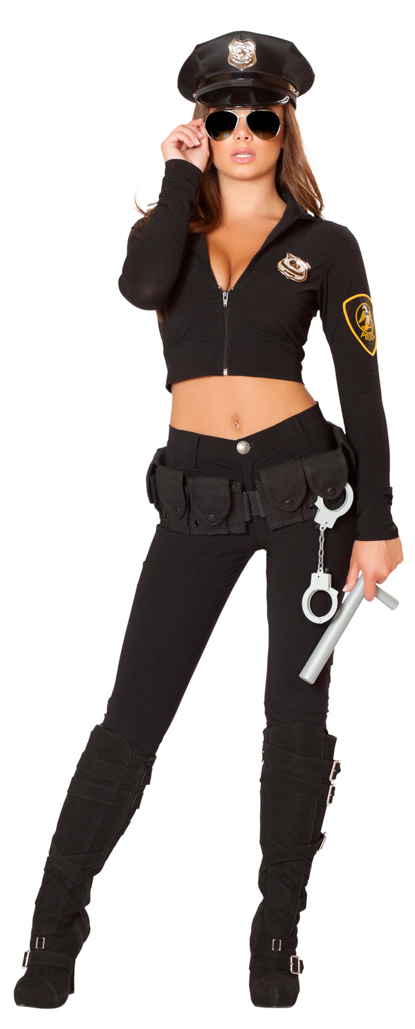 Six Piece Miss Law and Order Police Costume Front RM4501