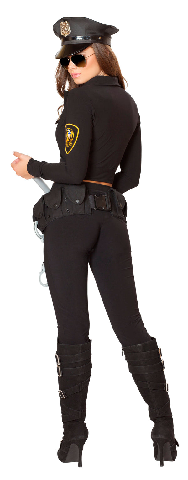 Six Piece Miss Law and Order Police Costume Back RM4501