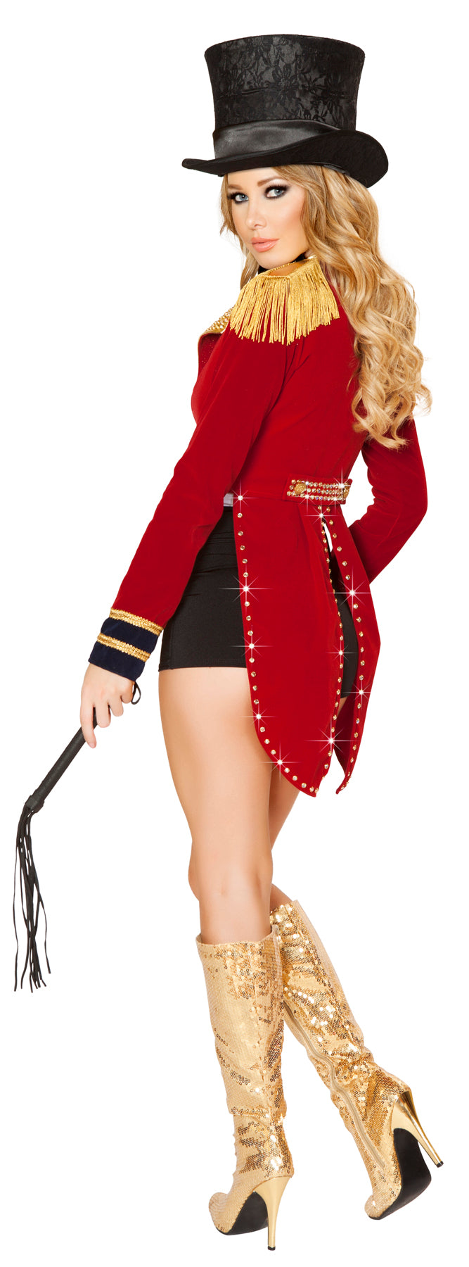 Seductive Circus Leader Adult Costume Back RM4518