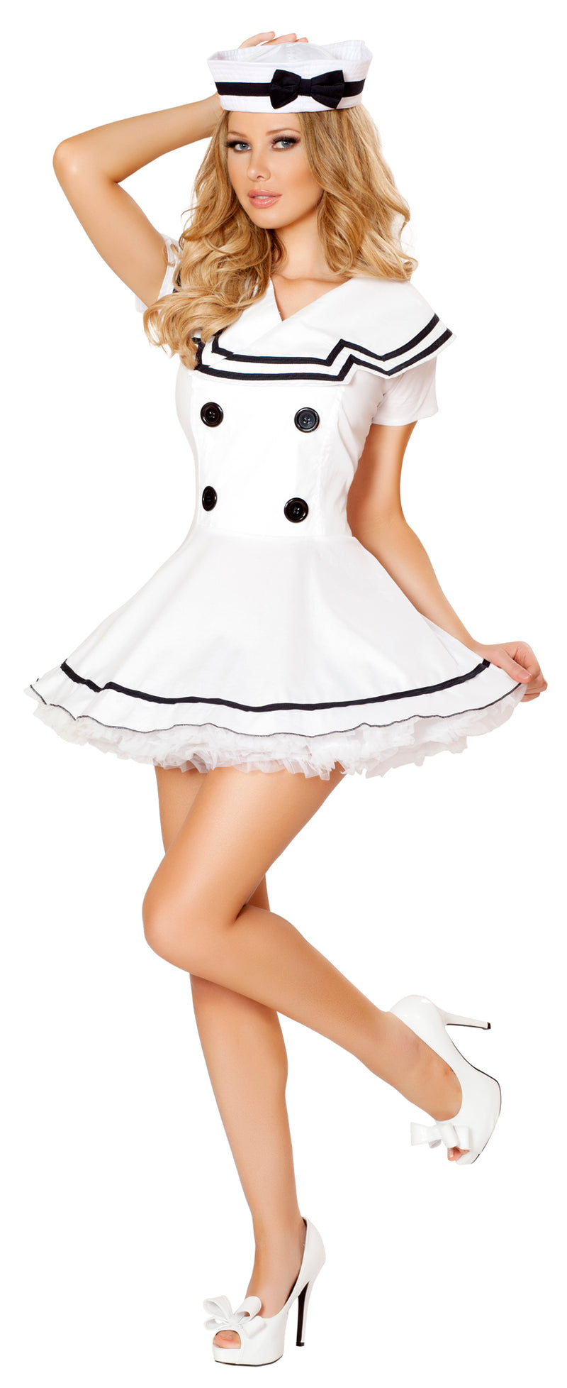 Two Piece Sexy Sailor Maiden Costume Front RM4525