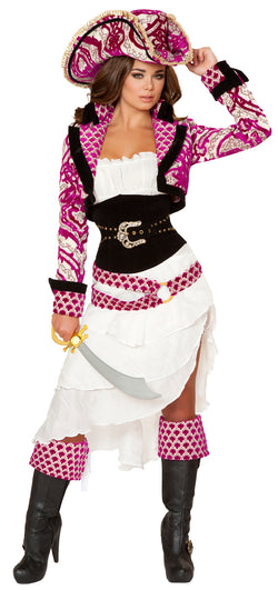 Five Piece Precious Pirate Costume Front RM4526
