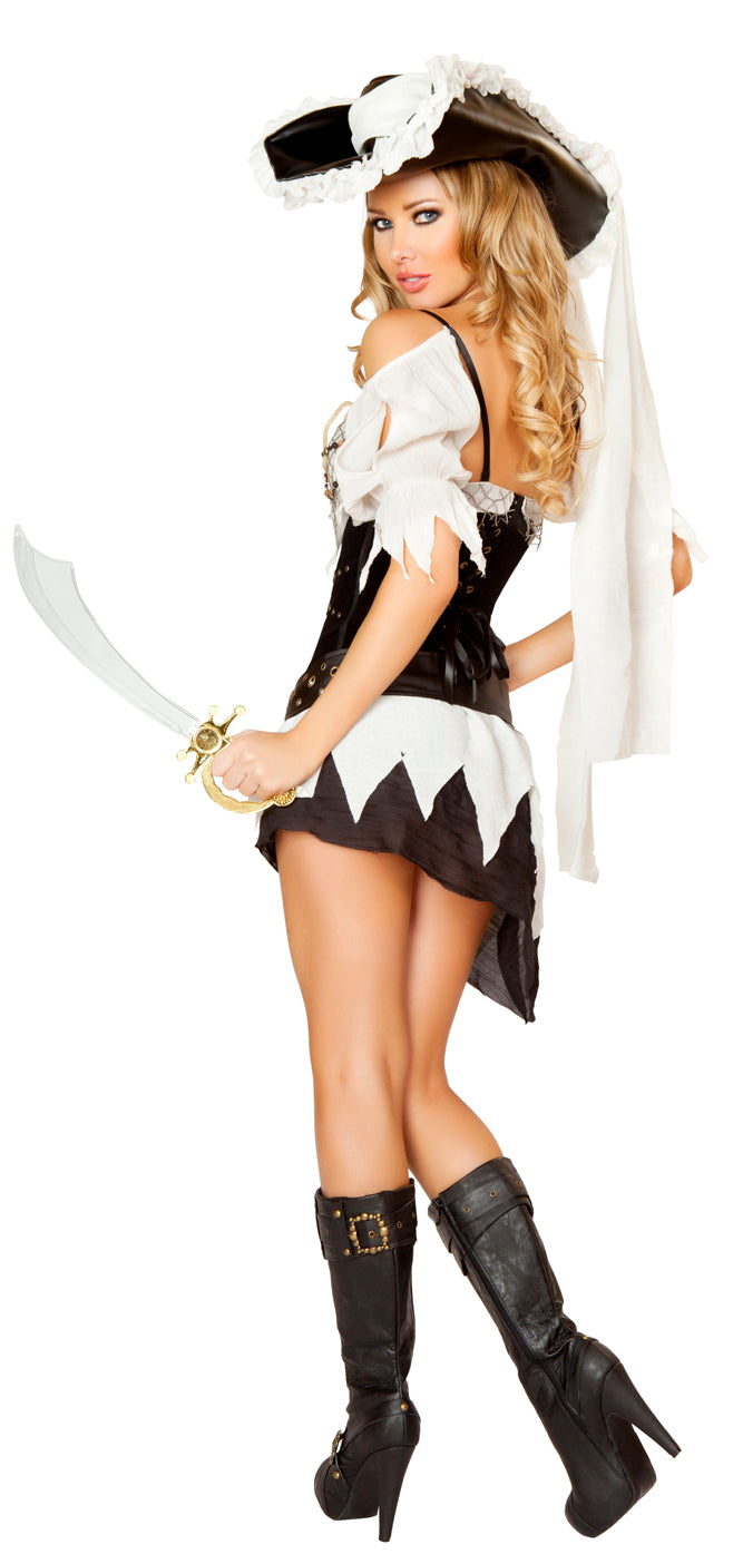 Five Piece Sexy Shipwrecked Sailor Costume Back RM4528