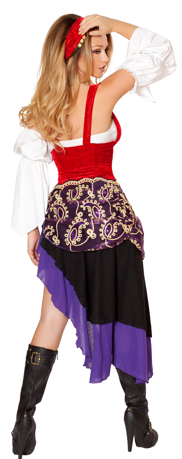 Sexy Gypsy Maiden Costume Back RM4532