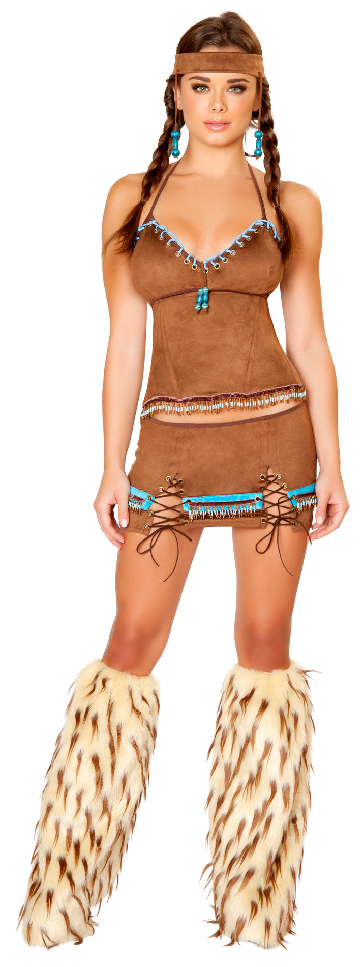 Native American Babe Costume Front RM4430