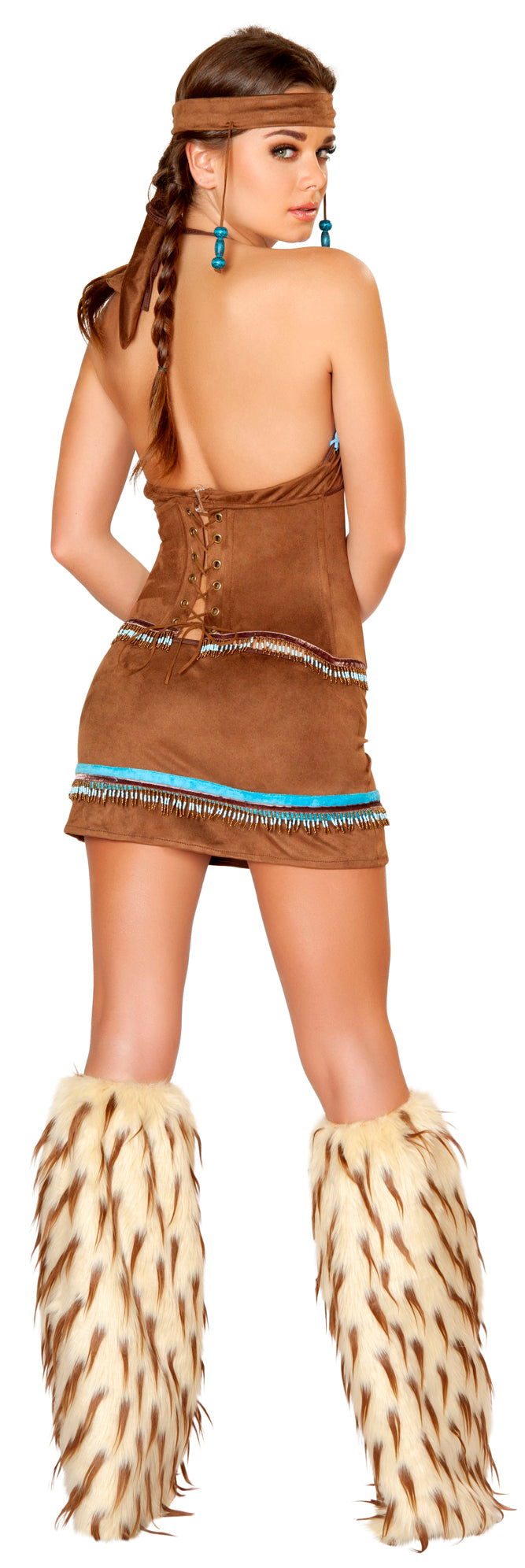 Native American Babe Costume Back RM4430