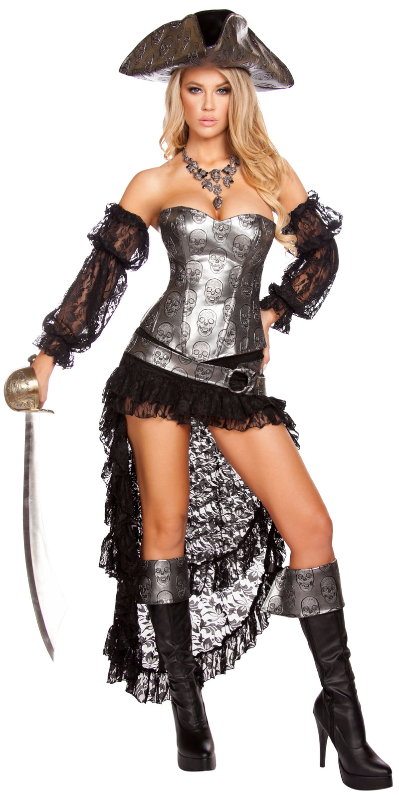 Deadly Pirate Captain Costume Front RM4572