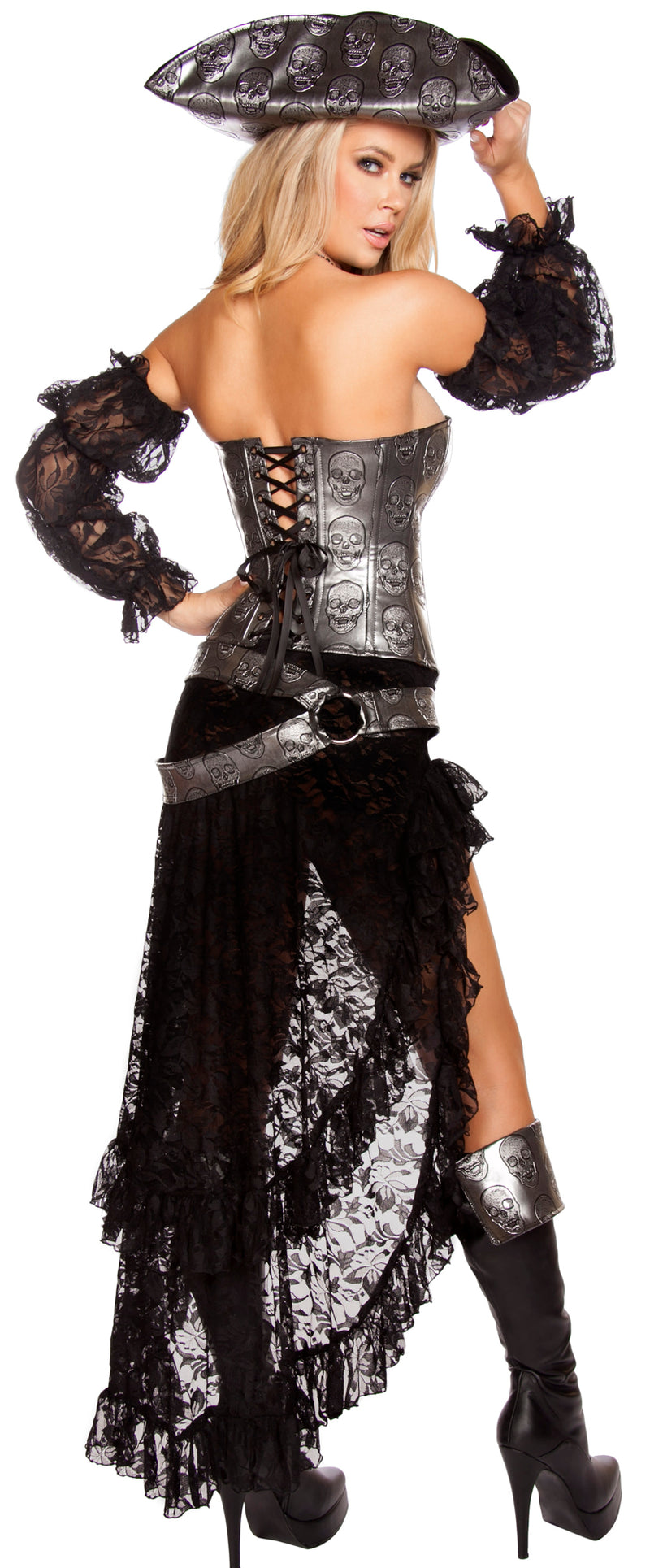 Deadly Pirate Captain Costume Back RM4572