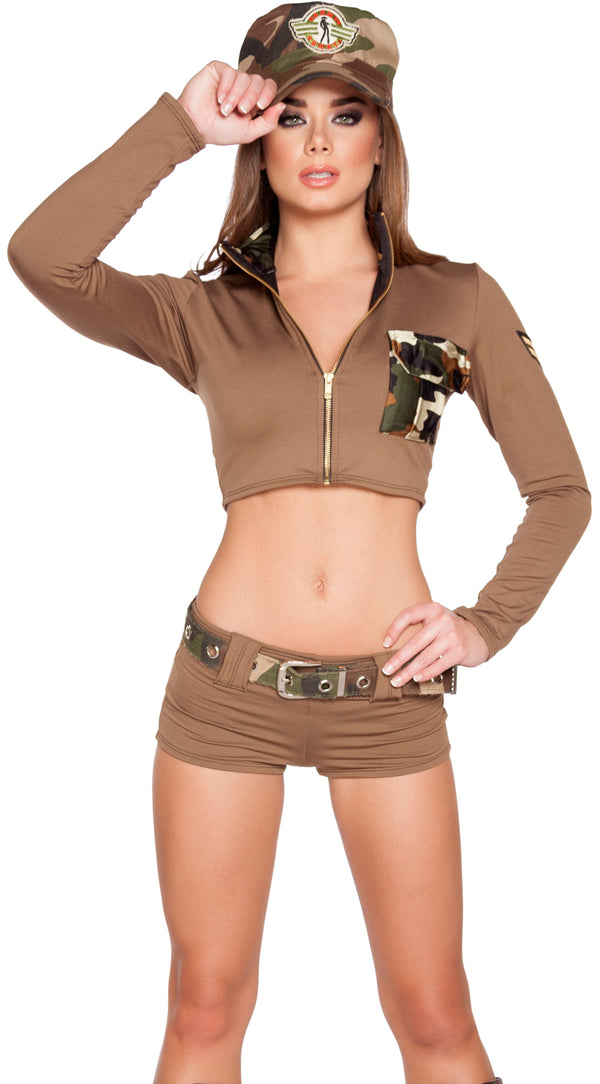 Sexy Soldier Babe Army Costume RM4591 Front