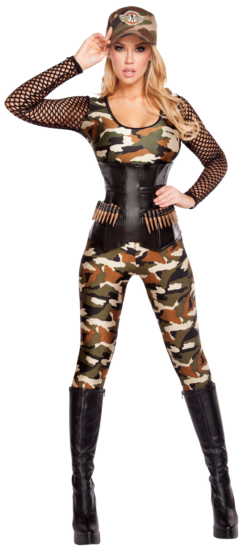 Lusty Lieutenant Army Camouflage Costume RM4592 Front