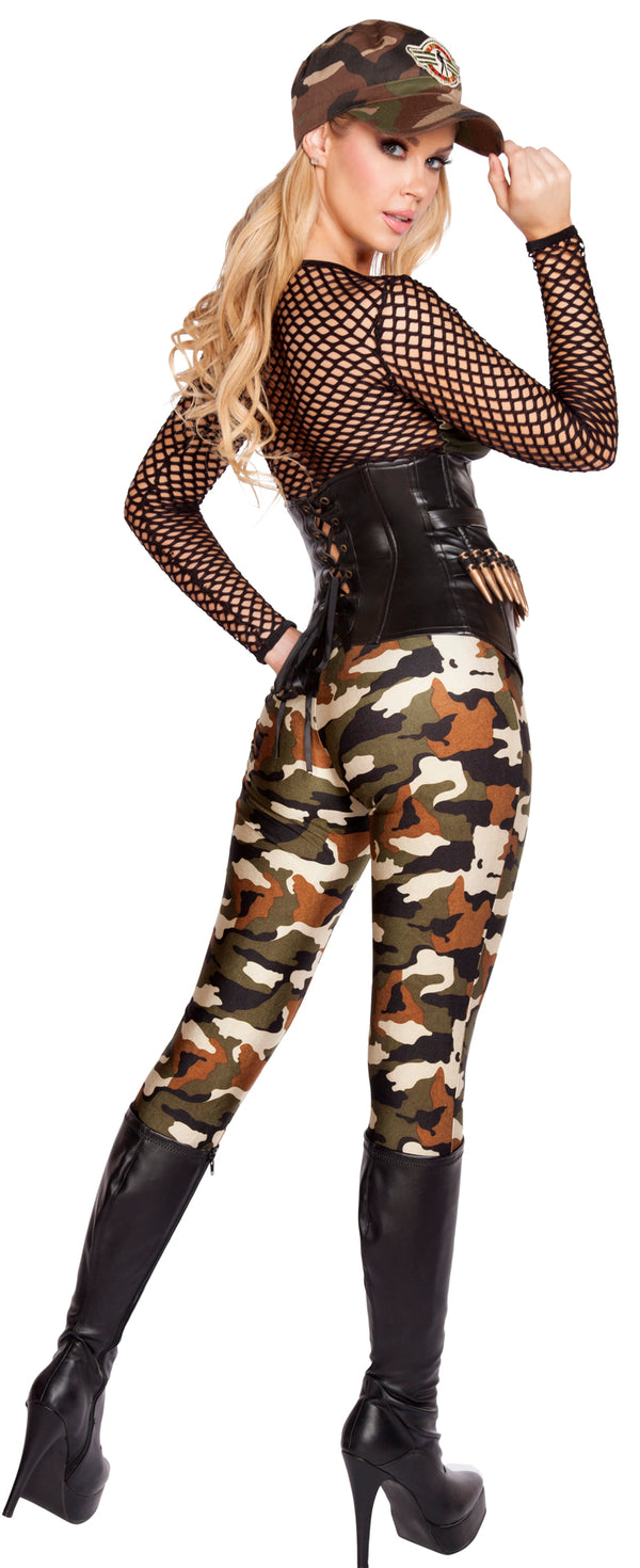 Lusty Lieutenant Army Camouflage Costume RM4592 Back