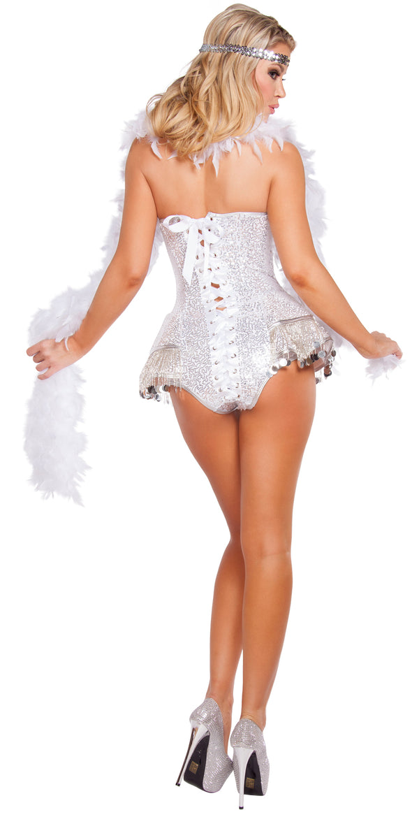 Flirty Flapper Adult Halloween Costume RM4622 Back
