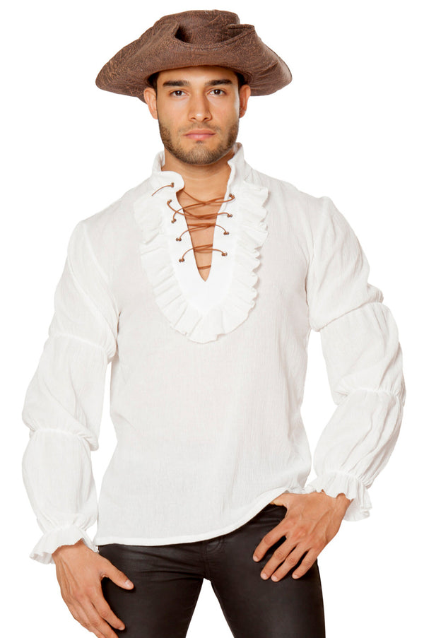 RM-4651 Ivory men's pirate shirt