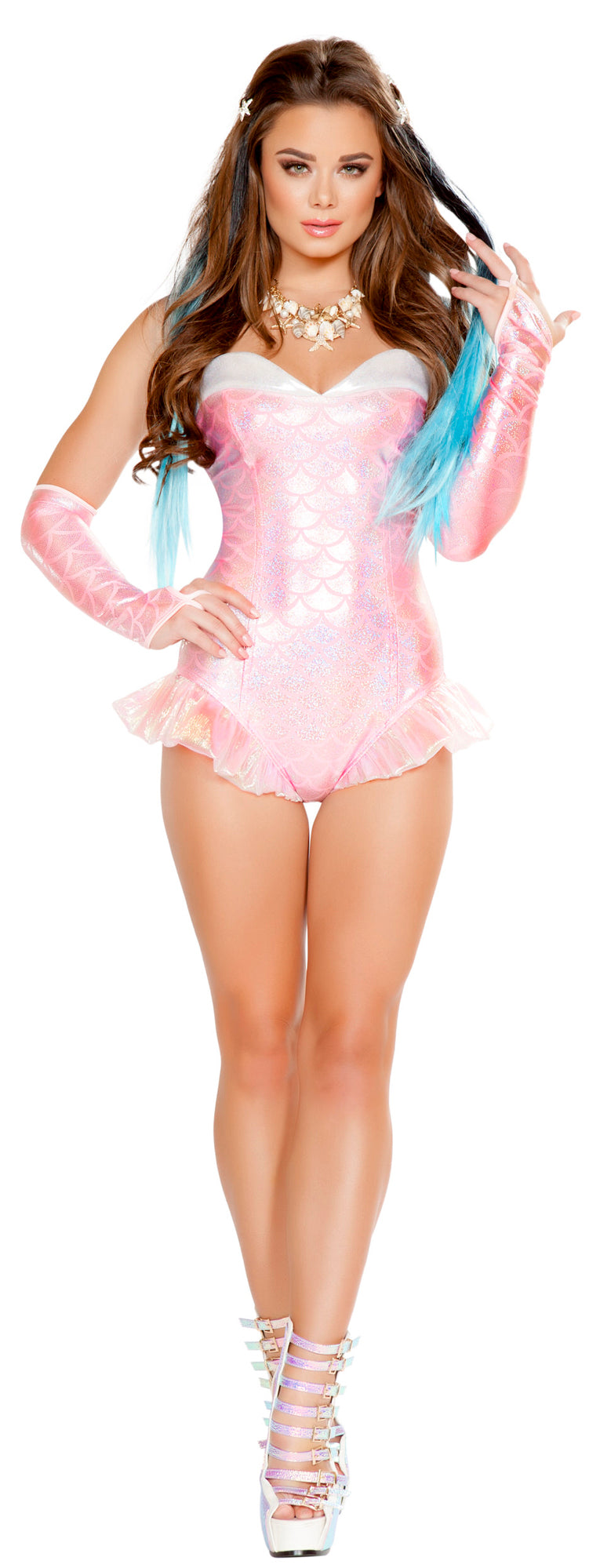 RM-4661 Pink Mermaid Romper Costume front