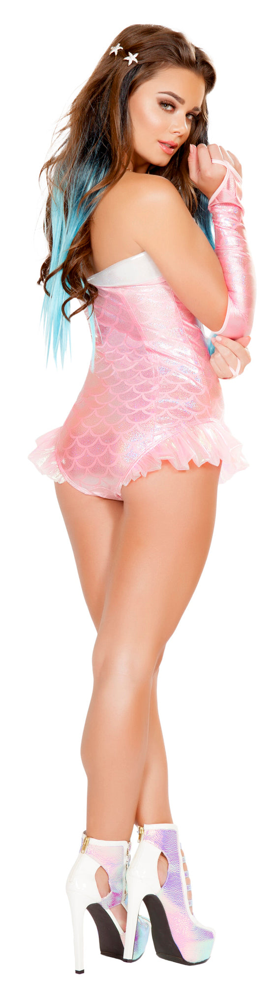 RM-4661 Pink Mermaid Romper Costume back
