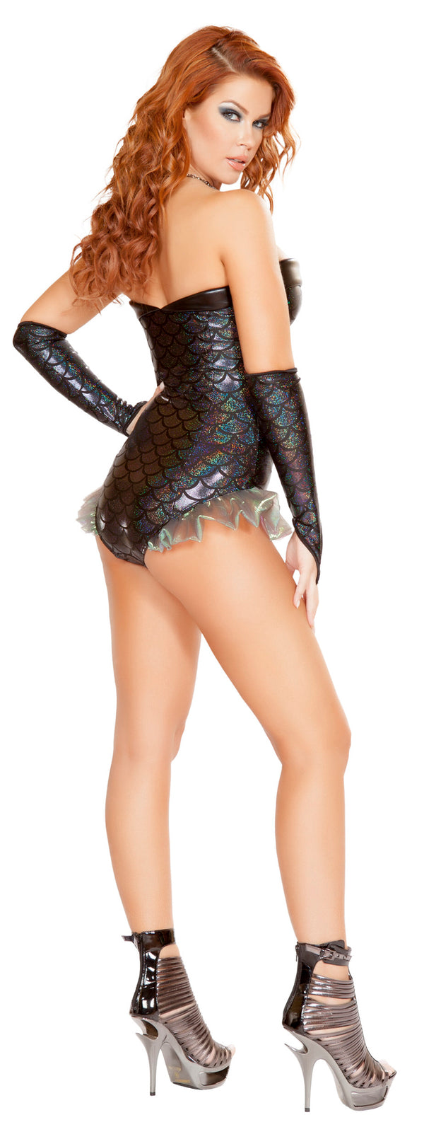 Dark Mermaid Romper Costume RM-4662 back