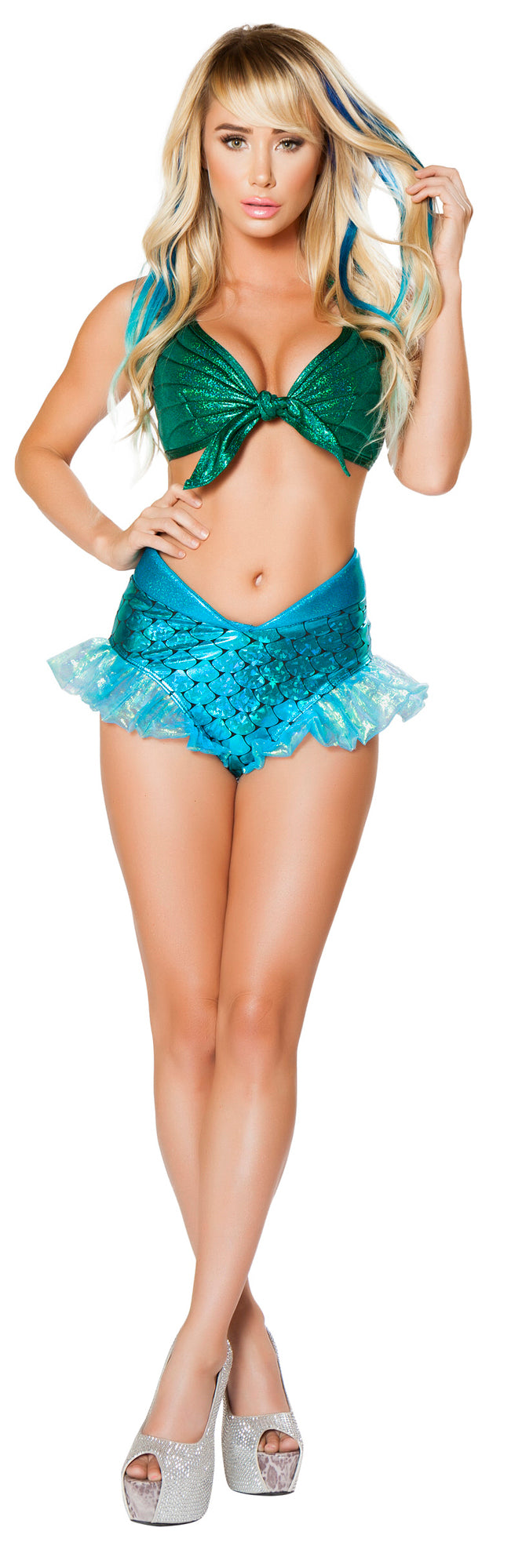 Mermaid Jewel Top and Short RM-4668 Front