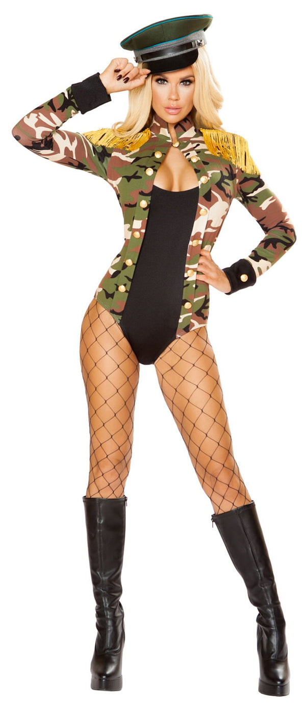 RM-4817 Army Girl Costume by Roma front