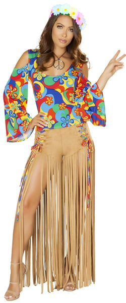 RM-4881 Two piece hippie costume front