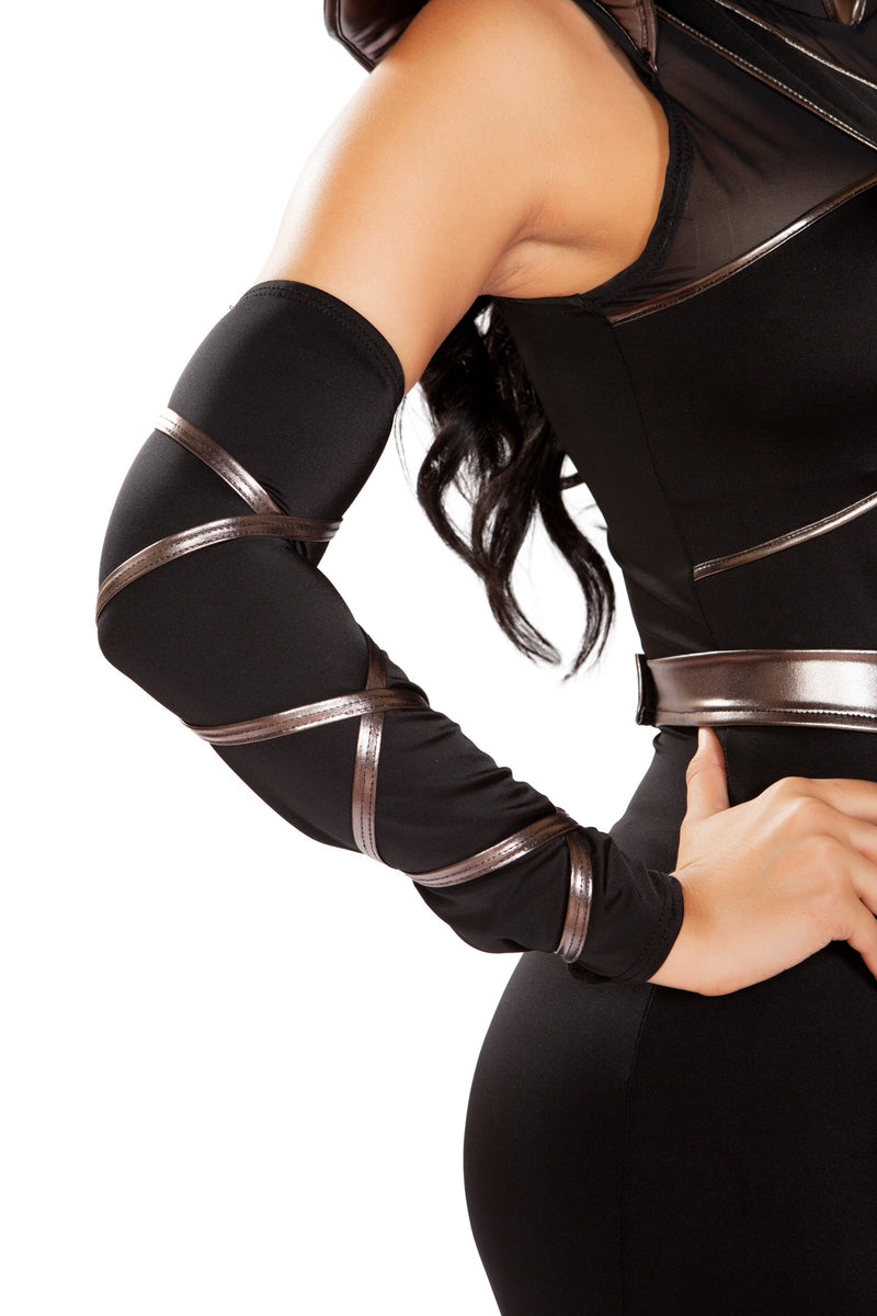 Pair of Arm Cuffs with Strap Detail