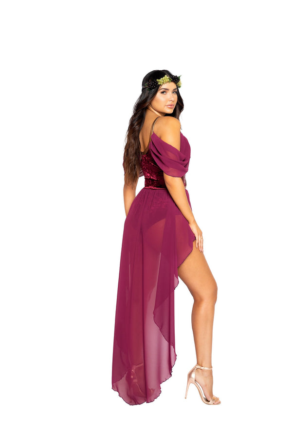 2pc Wine Goddess Costume