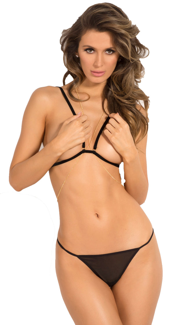 RR-532148-HON Chain Reaction Bra Set front