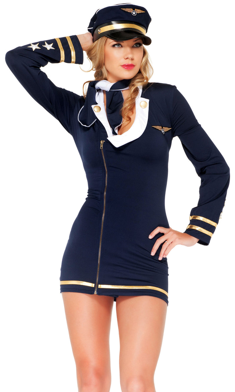 Sexy Pilot Halloween Costume FP550067 Front