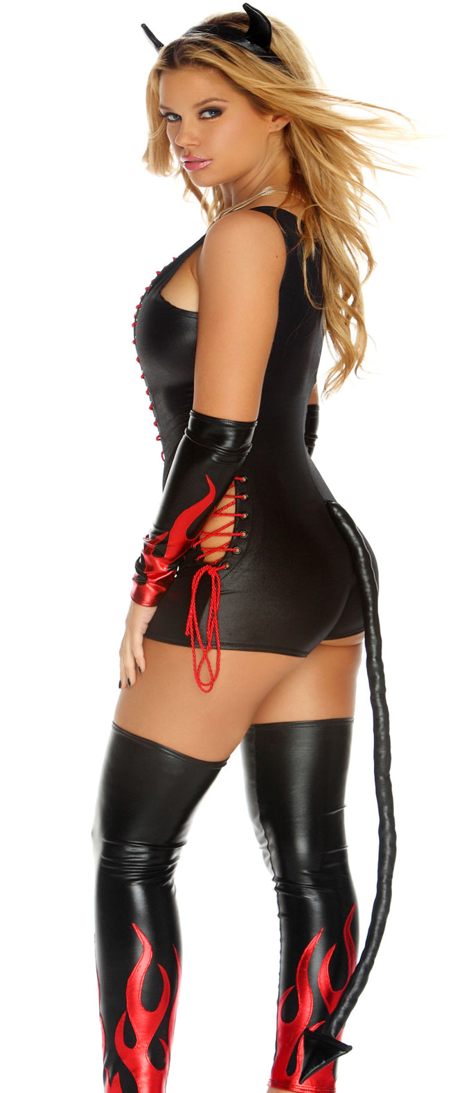 Dark Fantasy Costume Black Back FP553451