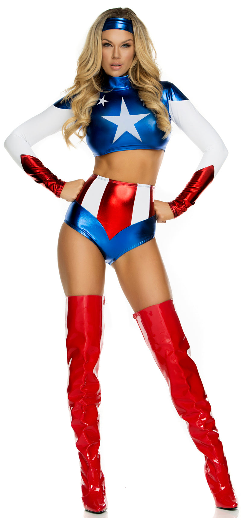 FP-554701 Pretty Patriot Super Hero Costume Front