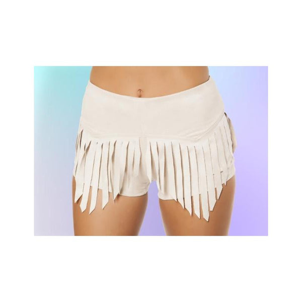 3407 Suede Shorts with Fringe Detail