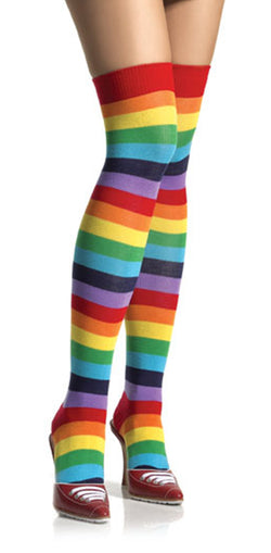 Rainbow Striped Thigh Highs LA6606