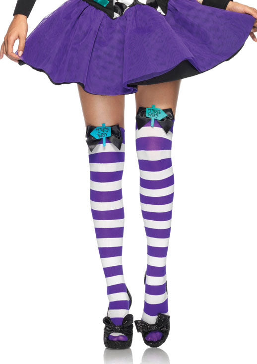 Mad Hatter Thigh Highs hosiery